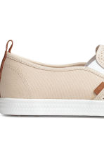 Slip-on trainers - Light beige - Men | H&M 5