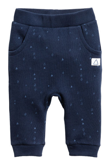 Patterned joggers - Dark blue - Kids | H&M CN 1