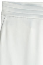 H&M+ Wide satin trousers - White -  | H&M 3