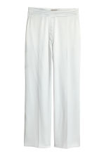 H&M+ Wide satin trousers - White -  | H&M 2