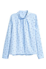 Blouse with a stand-up collar - Light blue/Stars - Ladies | H&M 2