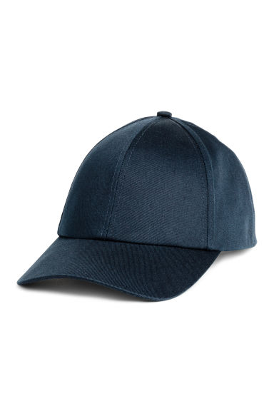 Cotton twill cap - Dark blue - Ladies | H&M 1