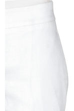 Linen-blend suit trousers - White - Ladies | H&M CA 3