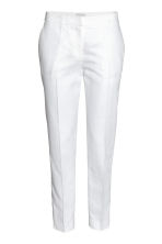 Linen-blend suit trousers - White - Ladies | H&M CA 2
