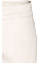 Linen-blend suit trousers - Light beige - Ladies | H&M 3