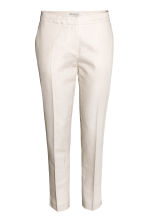 Linen-blend suit trousers - Light beige -  | H&M 2