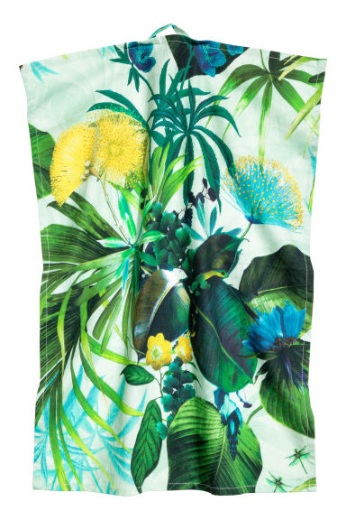 Patterned tea towel - Mint green/Floral - Home All | H&M CN 1