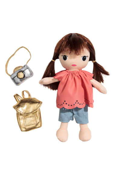 Soft doll - Powder/Coral - Kids | H&M 1