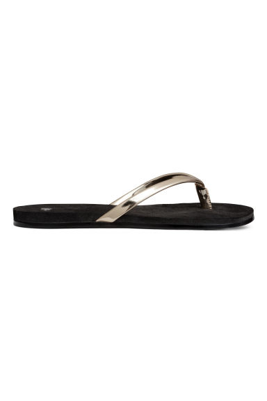 Flip-flops - Gold - Ladies | H&M GB