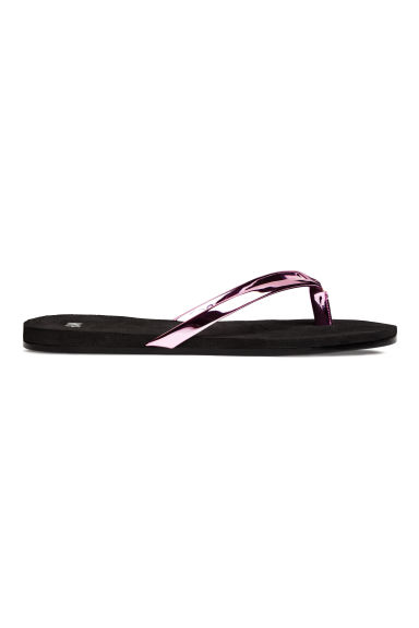 Flip-flops - Pink/Metallic - Ladies | H&M 1