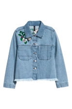 Embroidered denim jacket - Denim blue - Ladies | H&M 2