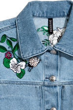Embroidered denim jacket - Denim blue - Ladies | H&M 4