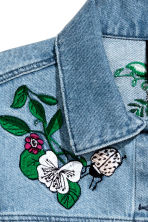 Embroidered denim jacket - Denim blue - Ladies | H&M 5