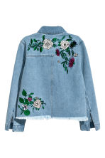 Embroidered denim jacket - Denim blue - Ladies | H&M 3