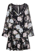 雪紡洋裝 - Black/Floral - Ladies | H&M 2