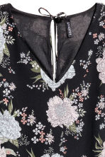 雪紡洋裝 - Black/Floral - Ladies | H&M 3