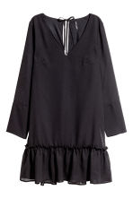 Chiffon dress - Black - Ladies | H&M CN 2