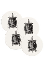 Lot de 4 dessous de verre - Blanc/tortue - Home All | H&M FR 2