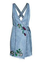 Denim dress - Denim blue/Embroidery - Ladies | H&M 2