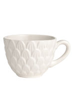 Tazza con motivi in rilievo - Bianco - HOME | H&M IT 1