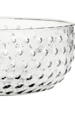 Saladier à motif texturé - Verre transparent - Home All | H&M FR 4