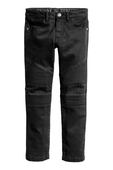 Skinny Fit Biker Jeans - Black - Kids | H&M CN 1