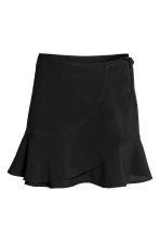 Flounced wrap skirt - Black - Ladies | H&M CN 2