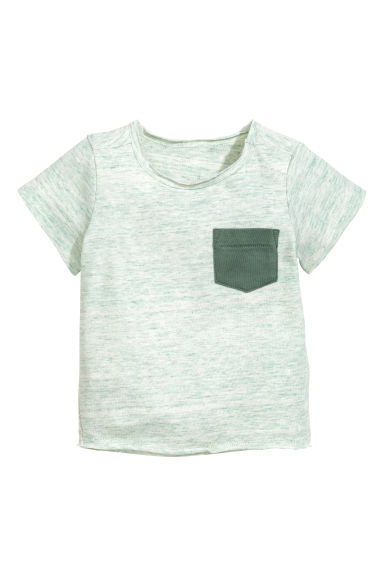 Marled T-shirt - Mint green marl - Kids | H&M