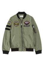 Bomber jacket with appliqués - Khaki green - Kids | H&M 2