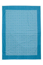 Patterned cotton tablecloth - Turquoise - Home All | H&M CN 3