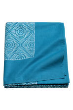 Patterned cotton tablecloth - Turquoise - Home All | H&M CN 2