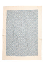 Patterned cotton tablecloth - Natural white - Home All | H&M CN 2