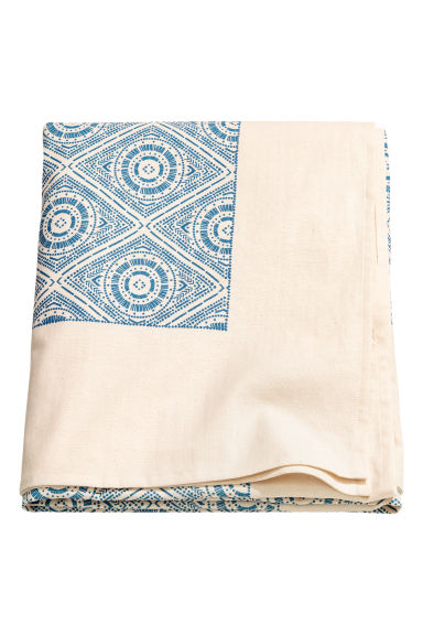 Patterned cotton tablecloth - Natural white - Home All | H&M CN 1