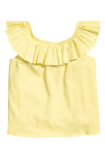 Frilled top - Yellow - Kids | H&M CA 2