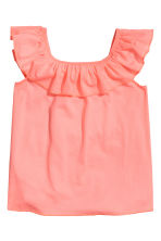 Frilled top - Coral pink - Kids | H&M 2