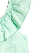 Frilled top - Mint green -  | H&M 3