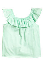 Frilled top - Mint green -  | H&M 2