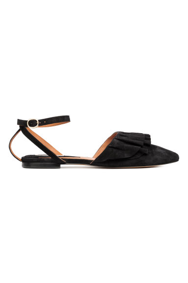 Suede sandals - Black - Ladies | H&M 1