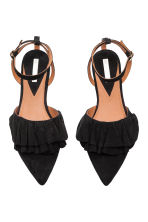Suede sandals - Black - Ladies | H&M CN 2