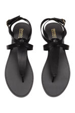 Leather sandals - Black - Ladies | H&M CN 2