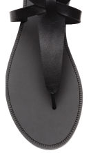 Leather sandals - Black - Ladies | H&M 3