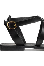 Leather sandals - Black - Ladies | H&M 4