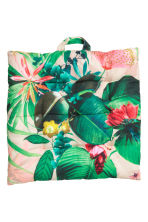 Patterned seat cushion - Light pink/Floral - Home All | H&M CN 1