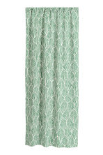 2-pack patterned curtains - Green/Leaf - Home All | H&M CN 2