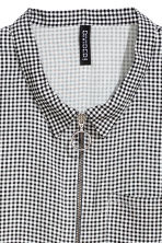 Short-sleeved shirt - Black/White/Checked - Ladies | H&M 3