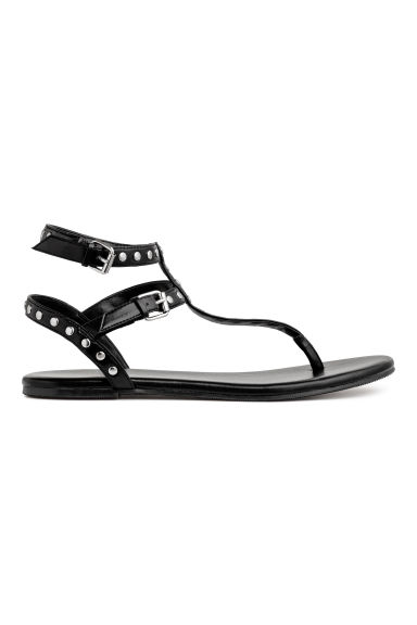 Studded sandals - Black - Ladies | H&M GB