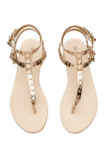 Studded sandals - Gold -  | H&M 2