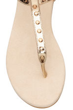 Studded sandals - Gold -  | H&M 3