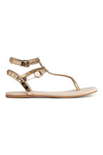 Studded sandals - Gold -  | H&M 1