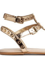 Studded sandals - Gold -  | H&M 4